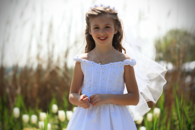Jackie at her Communion